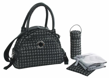 Herringbone Silver - Bellisimo Diaper Bag by Kalencom