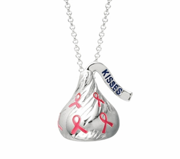 HERSHEY'S KISSES® Breast Cancer Awareness Necklace