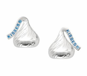 HERSHEY'S KISSES® Sterling Silver Earrings - Flat Back