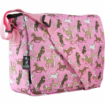 Horses in Pink Kickstart Kids Messenger Bag