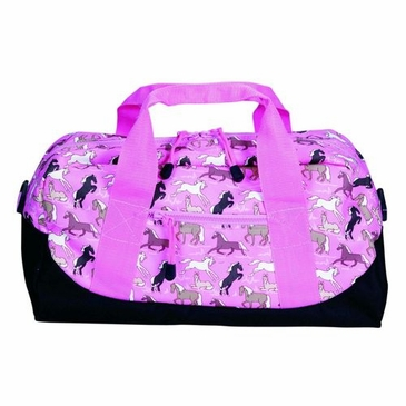Horses in Pink Kids Duffel Bag
