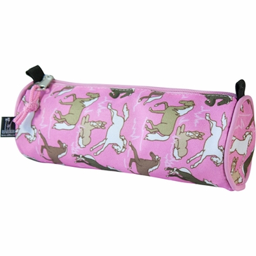 Horses in Pink Kids Pencil Case Set