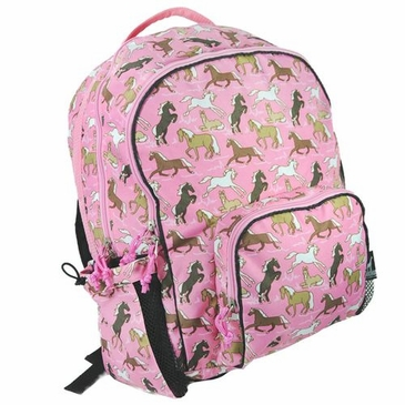 Horses in Pink Macropak Kids Backpack