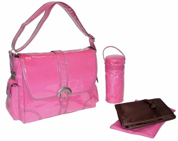 Hot Pink Corduroy - Laminated Buckle Diaper Bag by Kalencom