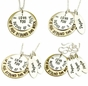 """I Love You A Bushel and A Peck and A Hug Around The Neck Necklace"" with Children's Names - click to Enlarge"