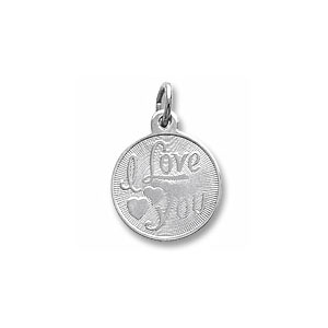I Love You Hearts Disc Charm by Forever Charms - Personalized