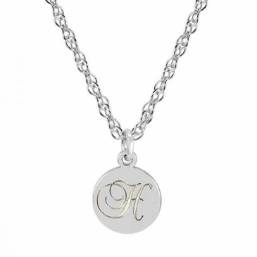 Initial Charm Necklace for Girl