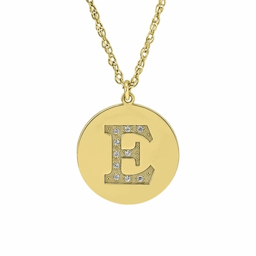 Initial Disc Charm Necklace