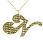 Initial Necklace with Name Pattern - click to Enlarge