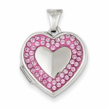 Inverted Heart Swarovski Locket