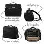 Ju-Ju-Be B.F.F. Onyx Black Out Diaper Bag - click to Enlarge