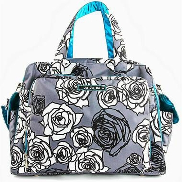 Ju-Ju-Be Be Prepared Diaper Bag - Charcoal Roses