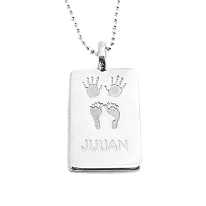 Julian & Co. Birth Necklace - Rectangle