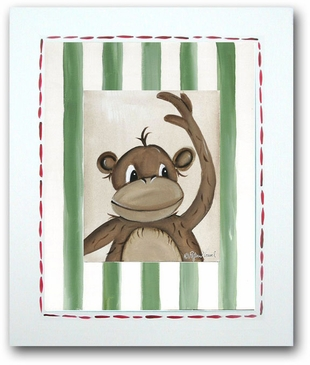 Jungle Junior - Monkey Framed Canvas Wall Art