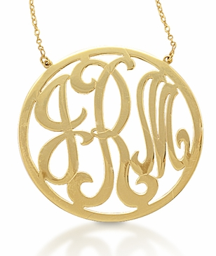 Kacey K 14k Gold Monogram Necklace
