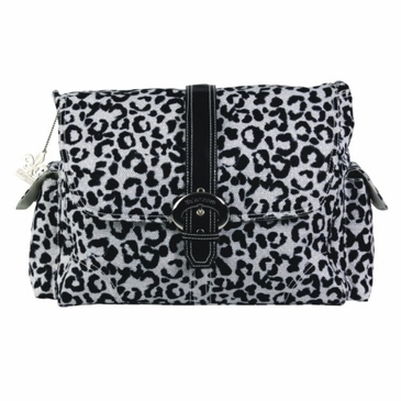 Kalencom A Step Above Diaper Bag - Leopard - Black & White