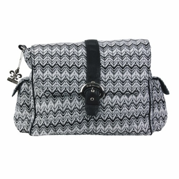 Kalencom A Step Above Diaper Bag - Ripples Black and White