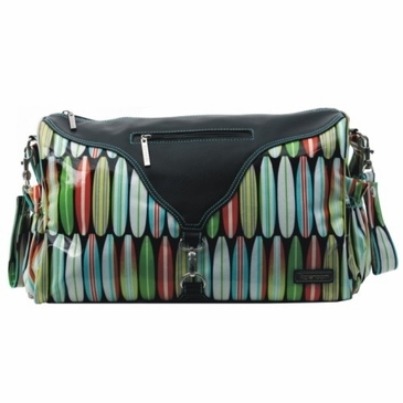 Kalencom Astrid Coated Diaper Bag - Shark Bite
