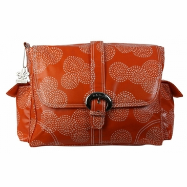 Kalencom Coated Buckle Diaper Bag - Stitches Orange