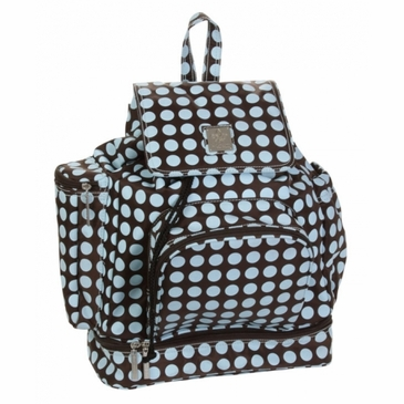 Kalencom Diaper Backpack Bag - Heavenly Dots Chocolate Blue