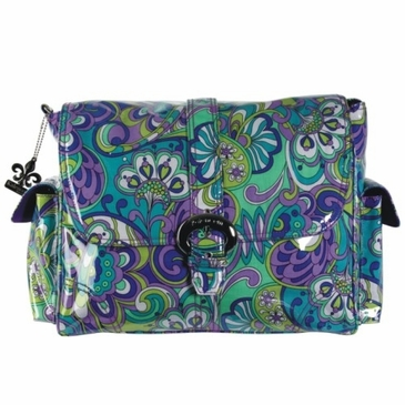 Kalencom Laminated Buckle Diaper Bag - Russian Floral Blue