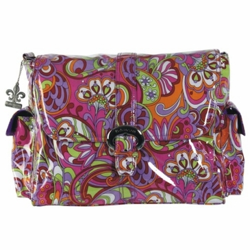 Kalencom Laminated Buckle Diaper Bag - Russian Floral Pink
