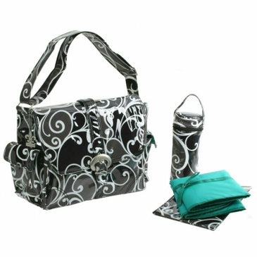 Kalencom Laminated Buckle Diaper Bag - Surf