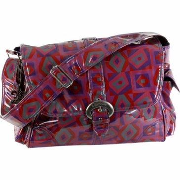 Kalencom Laminated Buckle Diaper Bag - Tic Tac Toe