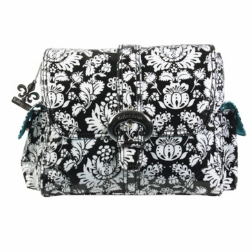 Kalencom Midi Coated Buckle Diaper Bag - Toile Black & White