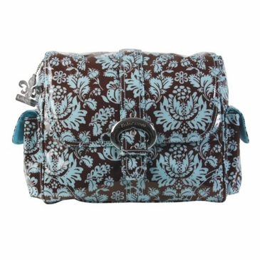 Kalencom Midi Coated Buckle Diaper Bag - Toile Chocolate & Blue