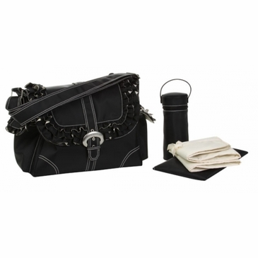 Kalencom Miss Prissy Diaper Bag - Black/Cream