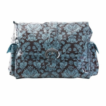 Kalencom Toile Chocolate & Blue Diaper Bag