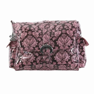 Kalencom Toile Chocolate & Pink Diaper Bag