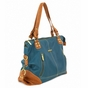 Kate Dark Teal/Saddle Diaper Bag by Timi & Leslie - click to Enlarge