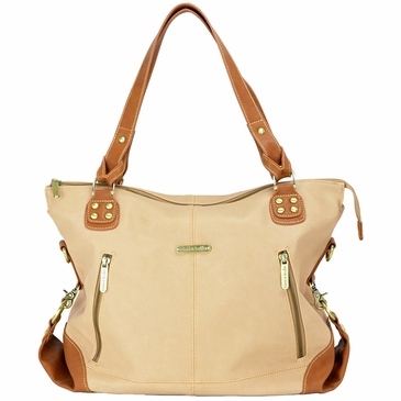 Kate Sand/Saddle Diaper Bag by Timi & Leslie