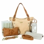 Kate Sand/Saddle Diaper Bag by Timi & Leslie - click to Enlarge