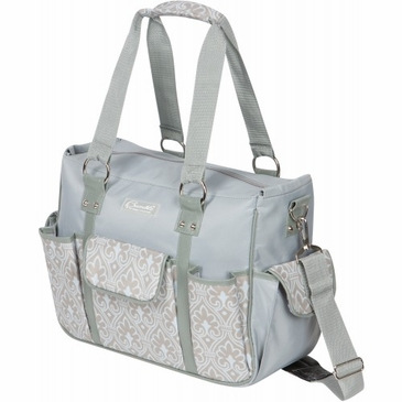 Kelly Commuter Blue Filagree Diaper Bag by Bumble Bags