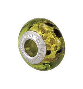 Kera™ Bella Viaggio Green & Black Leopard Glass Bead