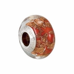 Kera™ Bella Viaggio Orange Glass Bead with Aventurina