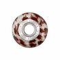 Kera™ Bella Viaggio Red & White Animal Stripe Glass Bead - click to Enlarge