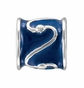 Kera™ Blue Enamel Tube Bead - click to Enlarge