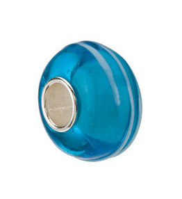Kera™ Blue Stripe Glass Bead
