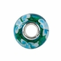 Kera™ Blue Turquoise Flower Glass Bead - click to Enlarge