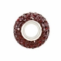 Kera™ Garnet-Colored Crystal Pave' Bead - click to Enlarge