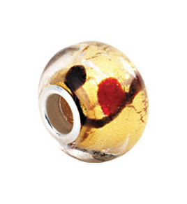 Kera™ Gold Bleeding Murano Glass Bead