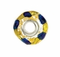 Kera™ Gold, Green & Blue Murano Glass Bead - click to Enlarge