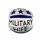 "Kera™ ""Military Wife"" Enamel Bead - click to Enlarge"