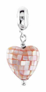 Kera™ Mother of Pearl Pink Heart Dangle