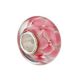Kera™ Pink Flower Glass Bead