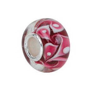 Kera™ Red Swirl Glass Bead